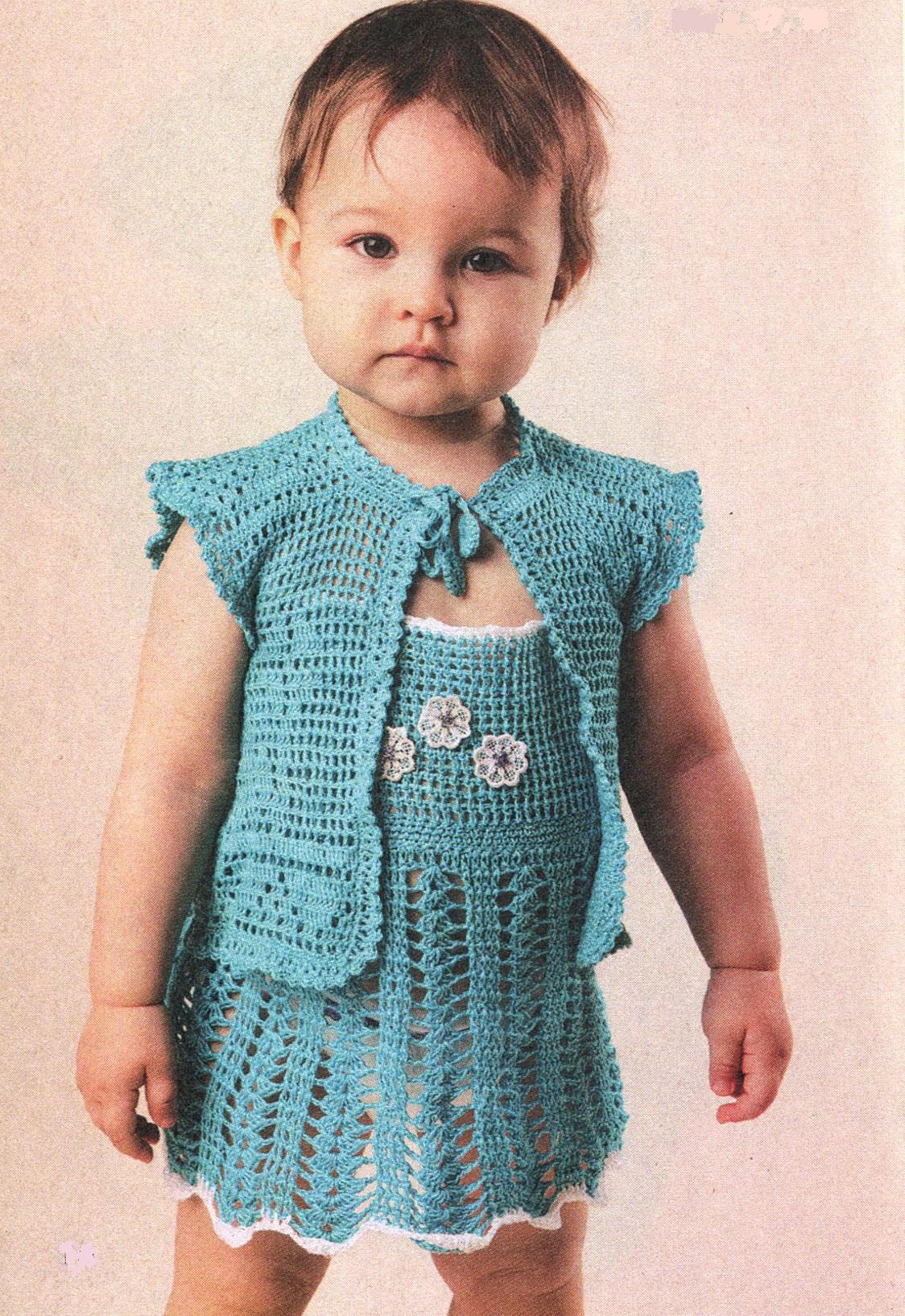 Сарафан и шорты для девочки вязаные крючком