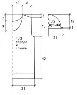 Сетчатый пуловер вязаный спицами выкройка