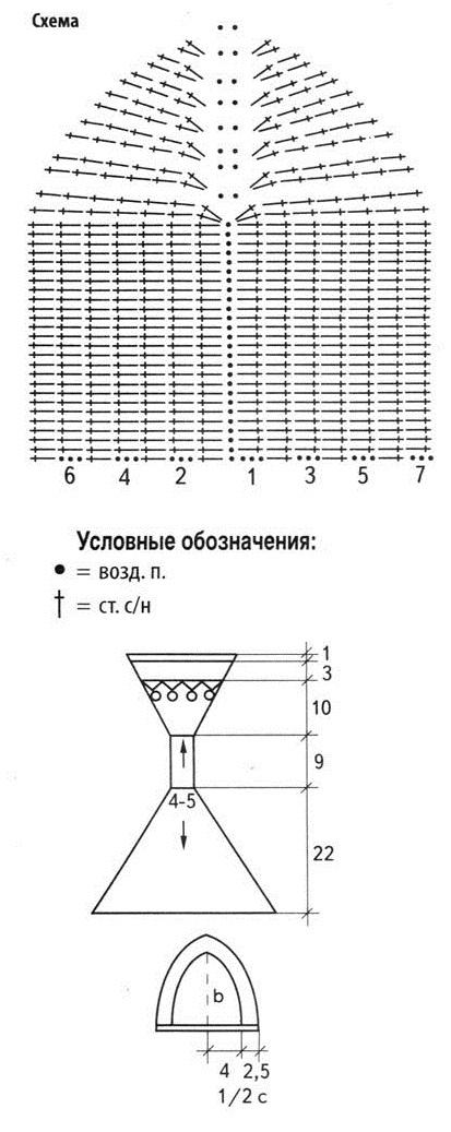 купальник вязаный крючком схема