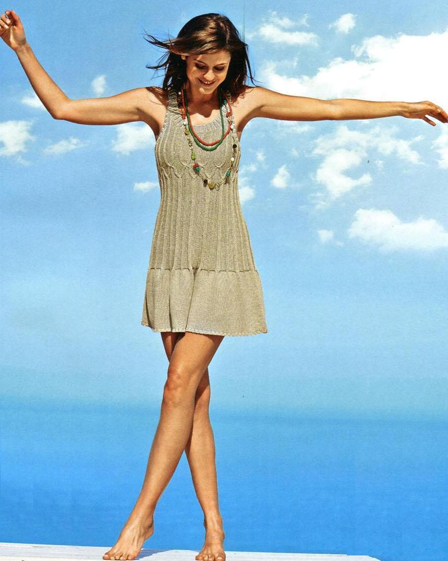 Вязание на спицах летнее платье