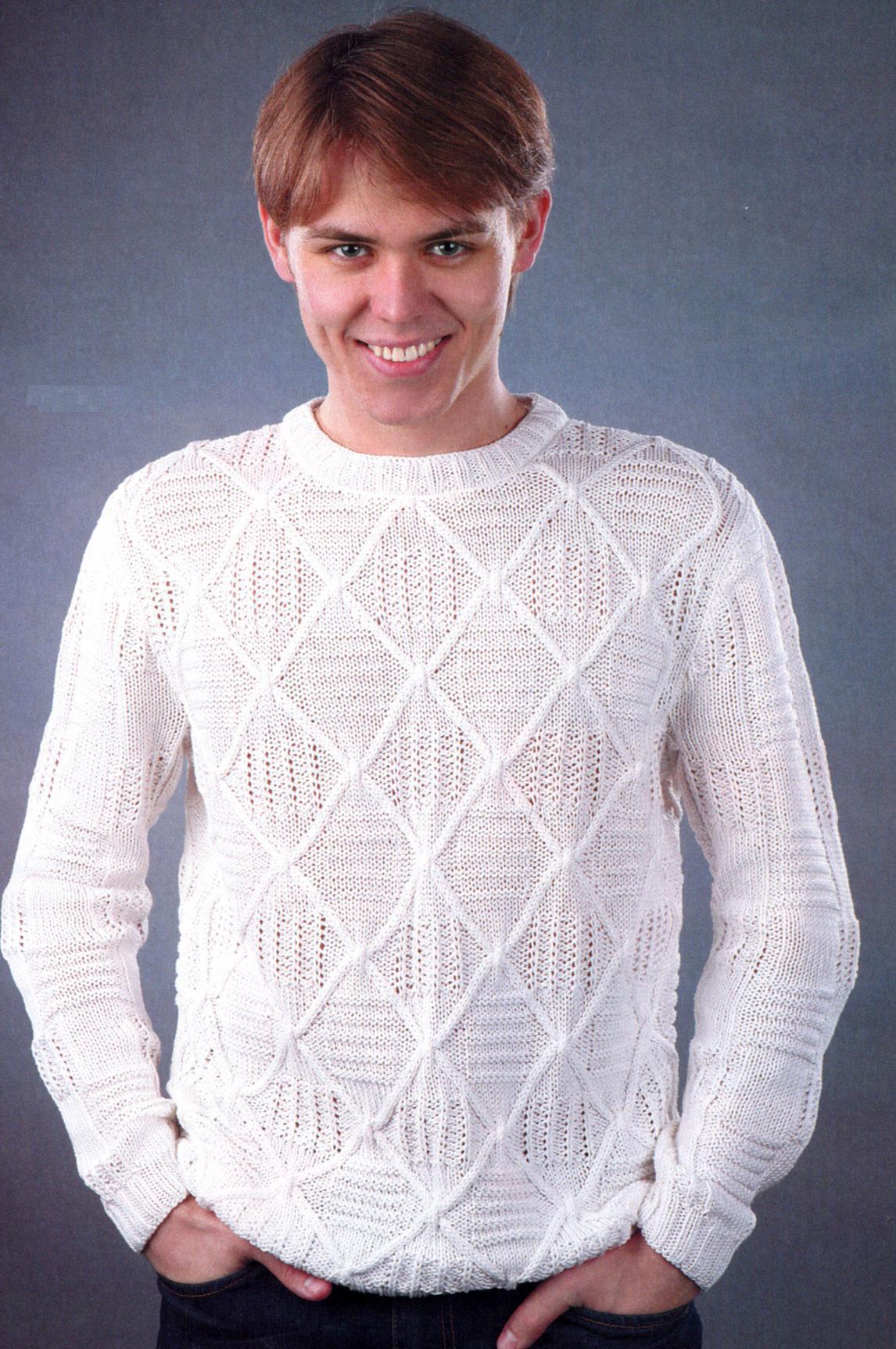 Мужской свитер - вязание крючком на