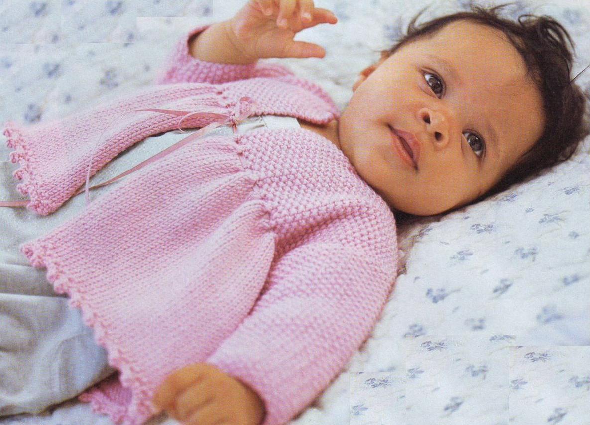 Вязание на спицах новорожденным кофточки 501