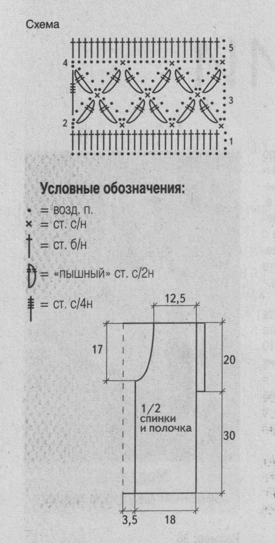 Зелёный жилет вязаный крюком.схема