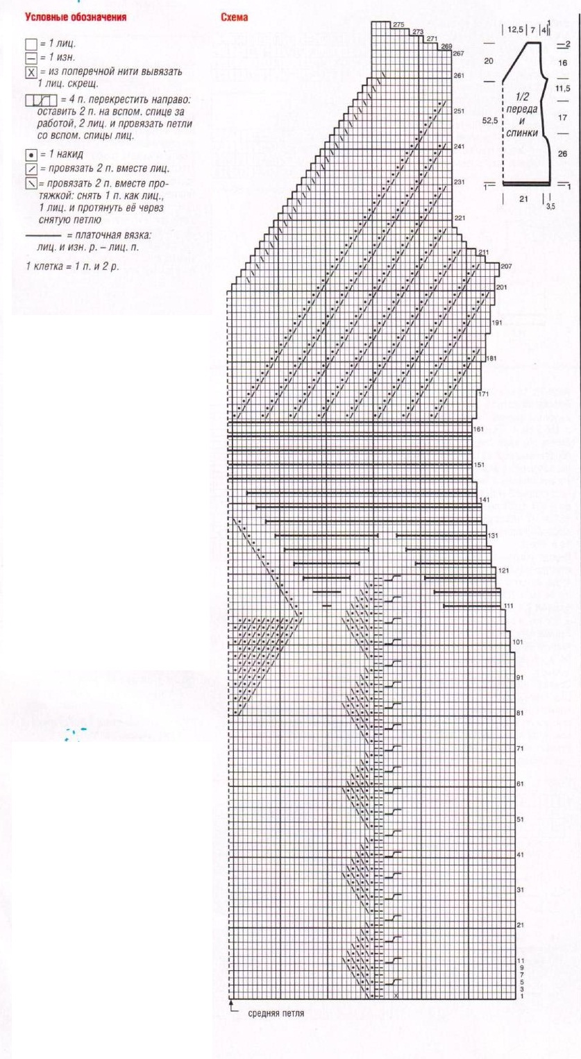 Бежевая туника вязаная спицами схема