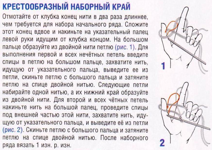 Как набрать петли для вязания кофты 576