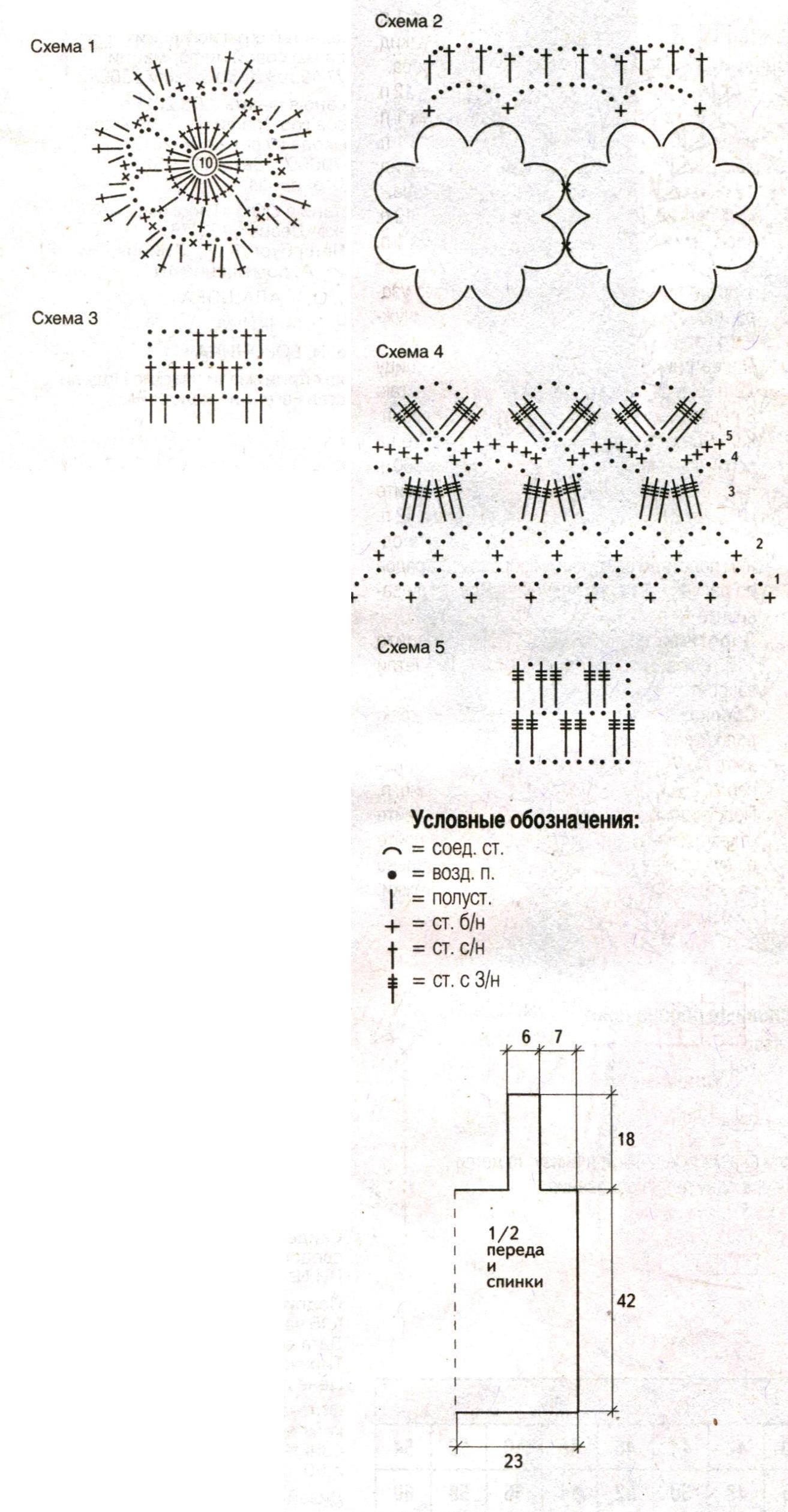 Коричневый топ вязаный крючком схема