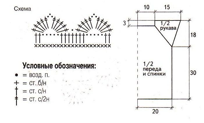 Пуловер-реглан вязаный спицами схема