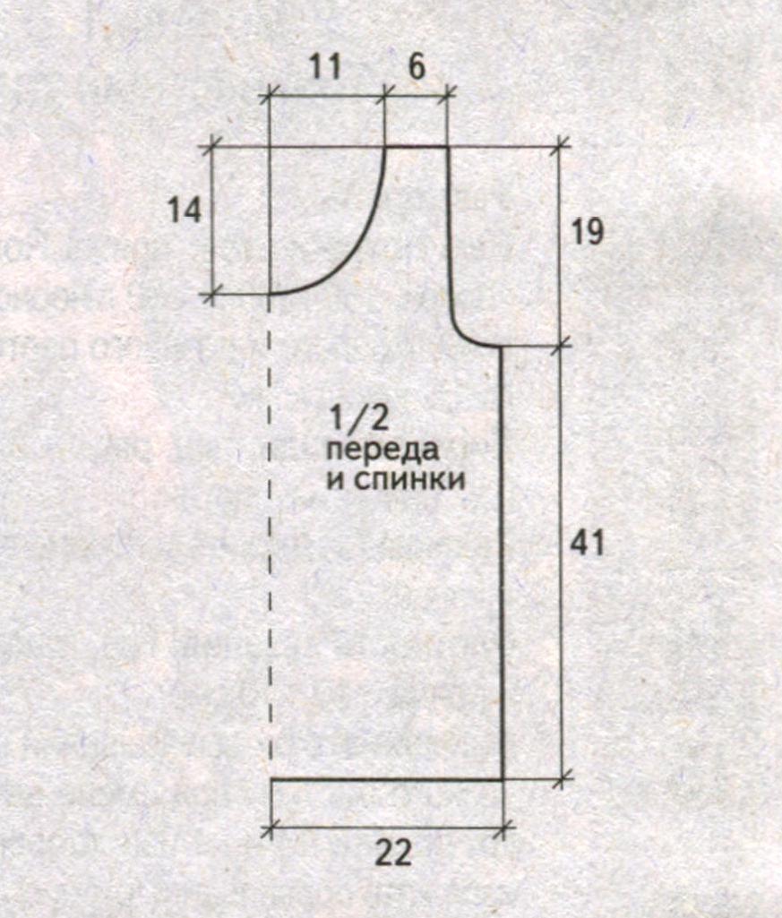 Пёстрый топ вязаный спиами выкройка