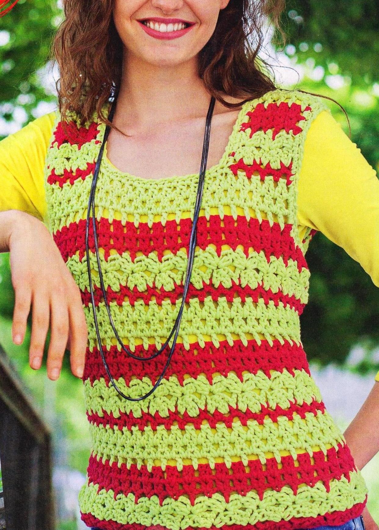 Изумительные многоцветные узоры для вязания 39