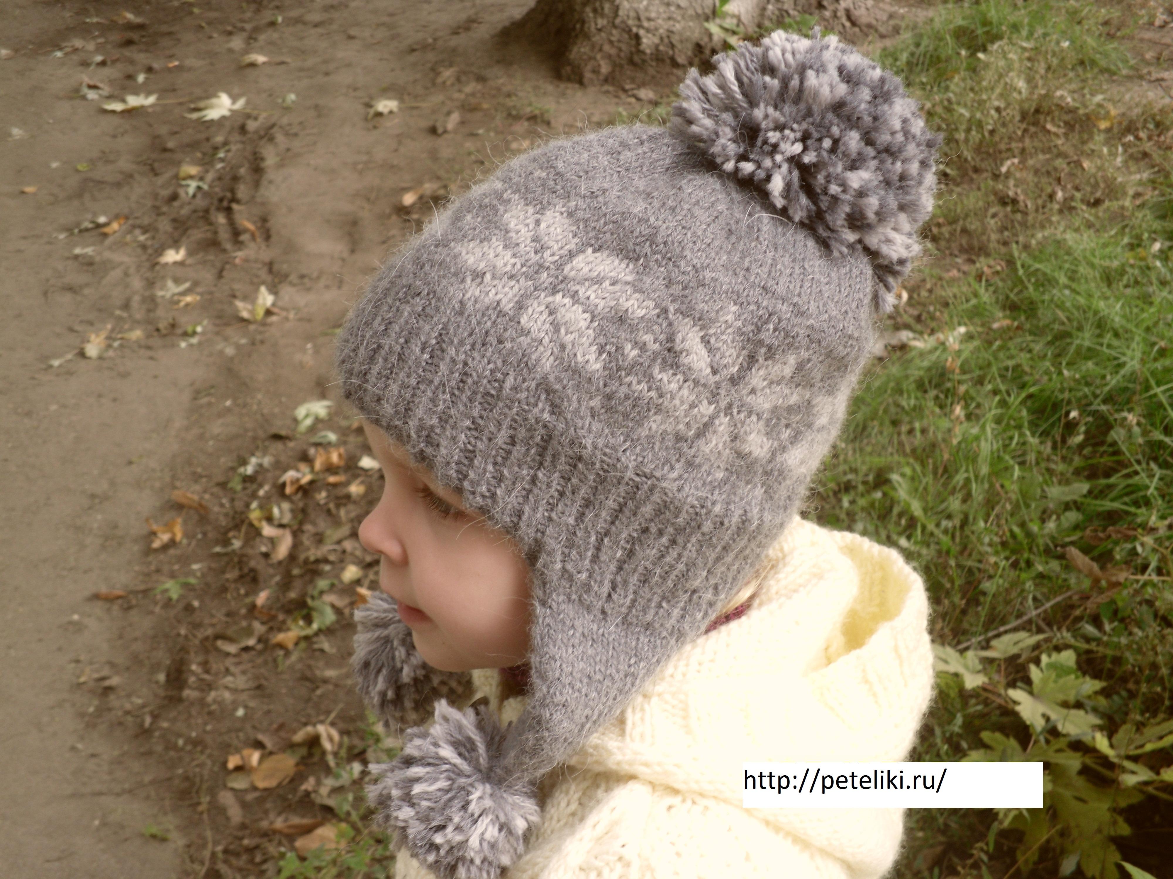Как связать детскую шапку с орнаментом 86