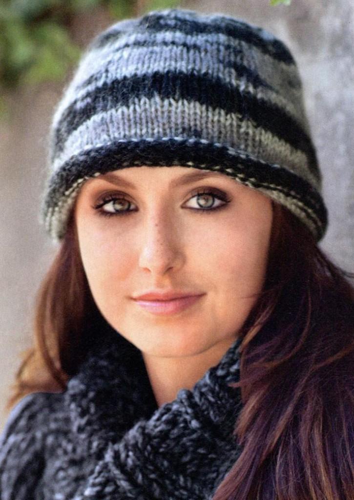 Вязание шапок нет из ниток меланж 54