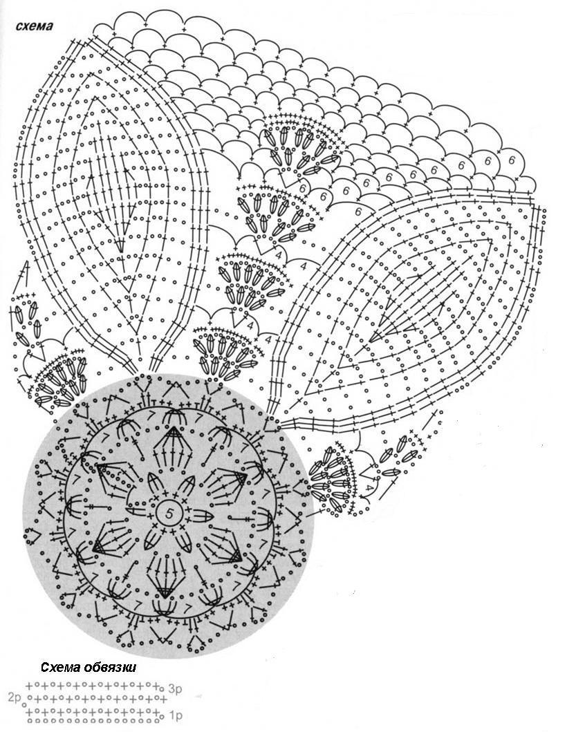 Джемпер вязаный спицами с отделкой вязаной крючком и расшитой бисером схема