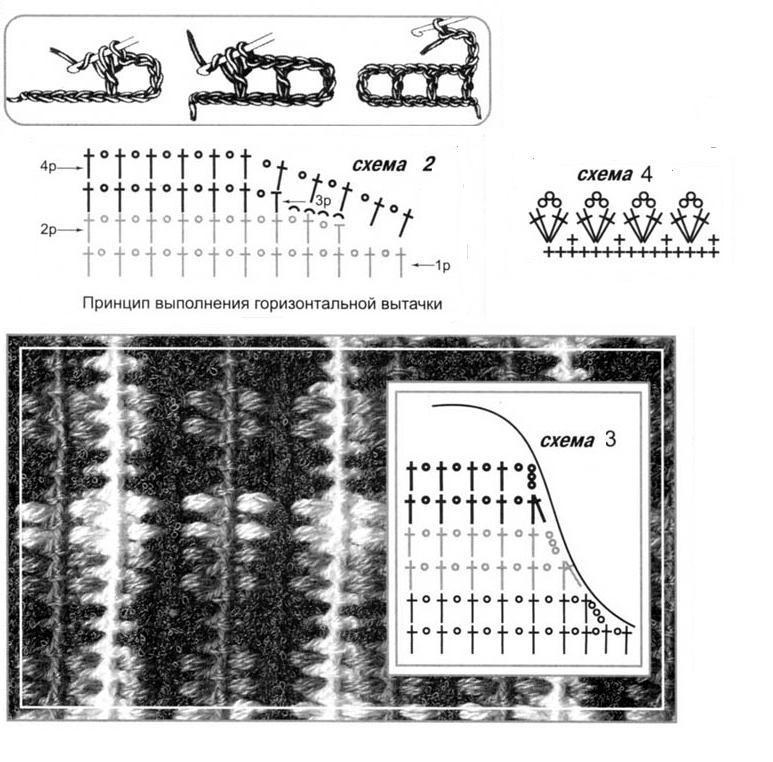 Стильный жакет вязаный крючком схемы 2_3_4