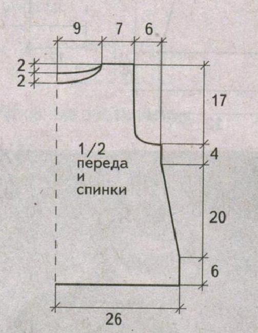Безрукавка с вышивкой вязаная спицами выкройка