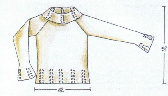 Пуловер с ажурной отделкой вязаный спицами выкройка