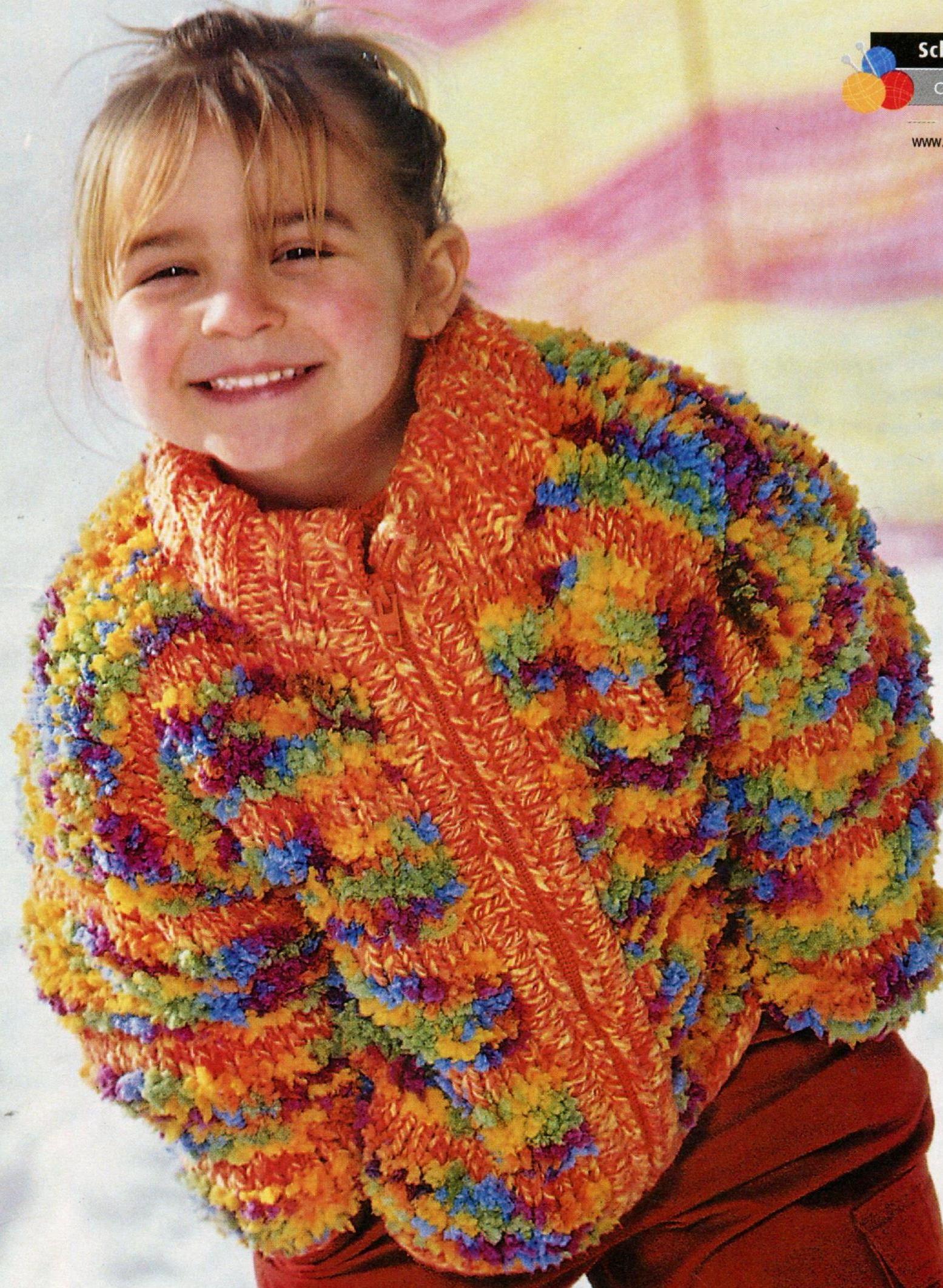 Курточка на девочку вязаная спицами