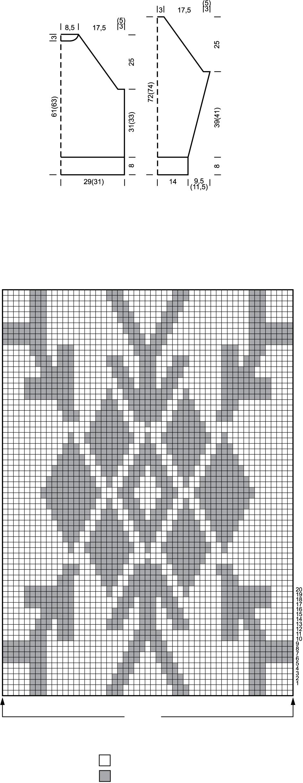 Мужской свитер вязаный спицами схема
