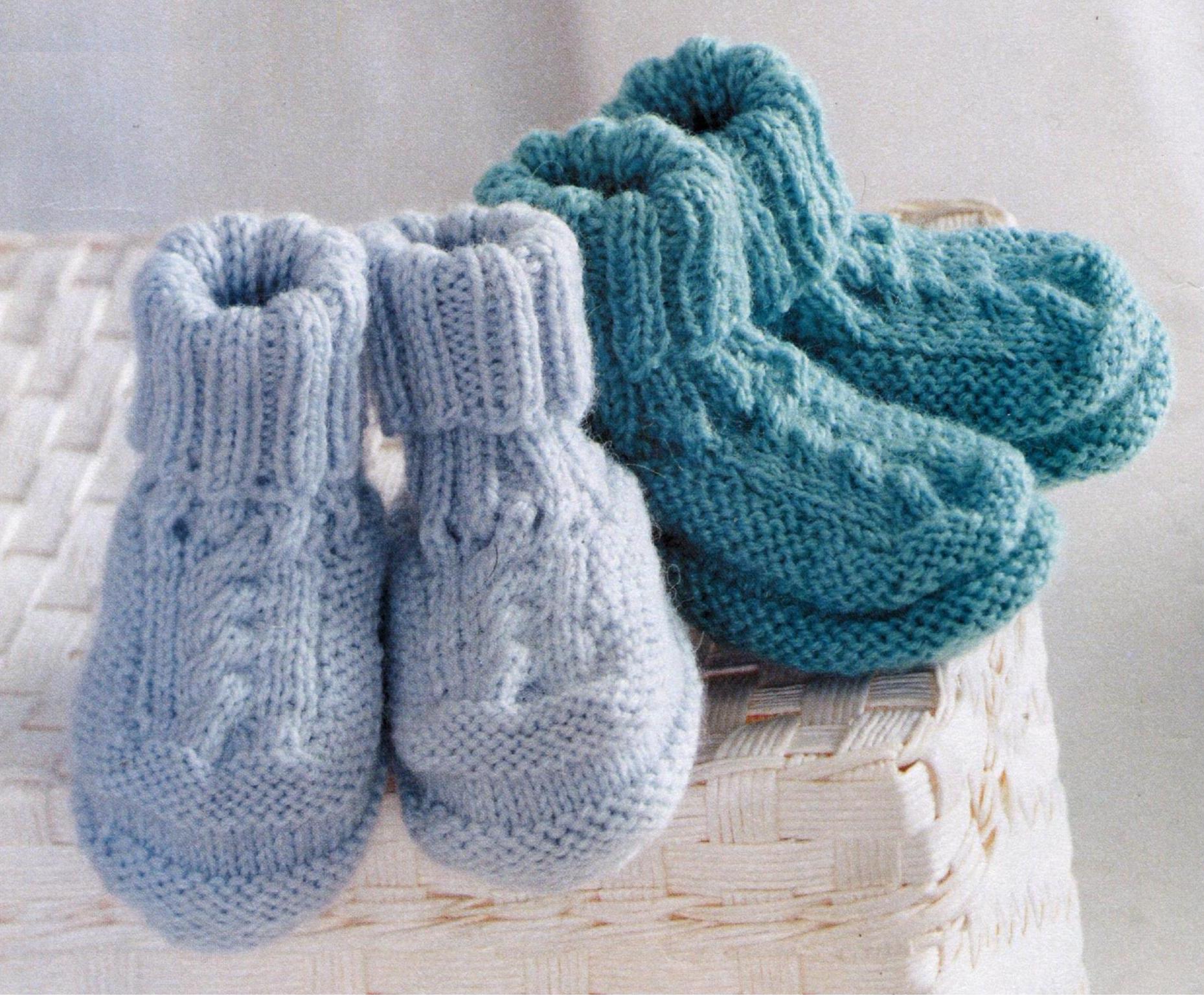 Пинетки для новорожденного вязаные спицами