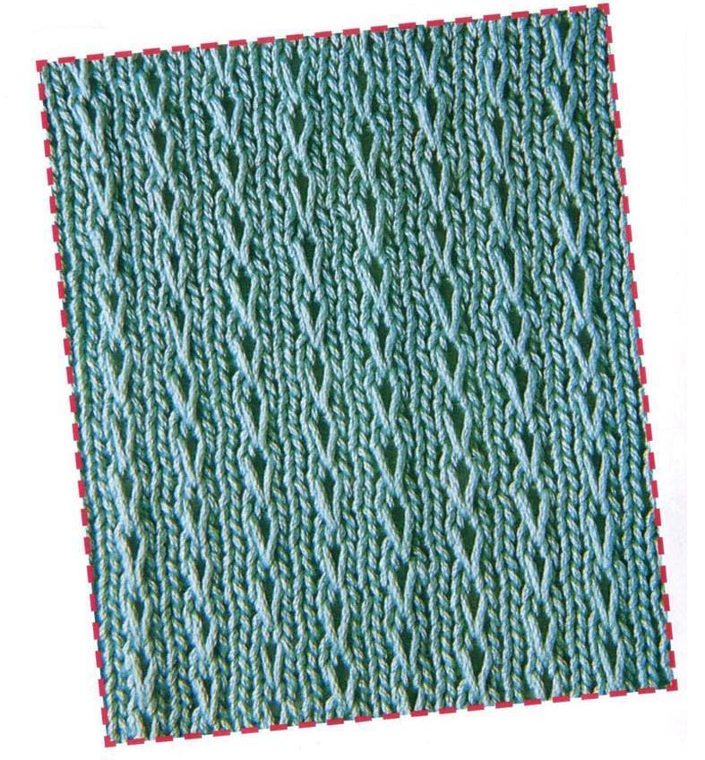 Узор цепочки для вязания спицами