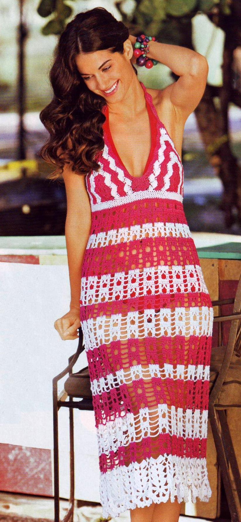 Летнее платье вязаное крючком