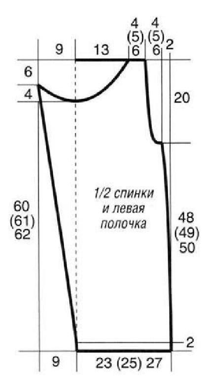 Полосатый топ вязаный спицами выкройка