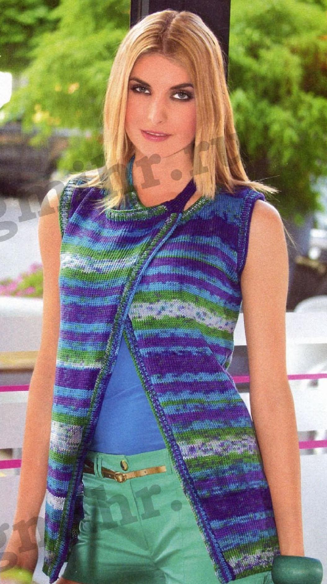 Оригинальное вязание из меланжевой пряжи