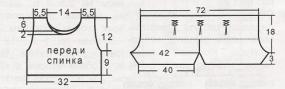 Костюмчик из топа и шортов в морском стиле вязаный спицами выкройка