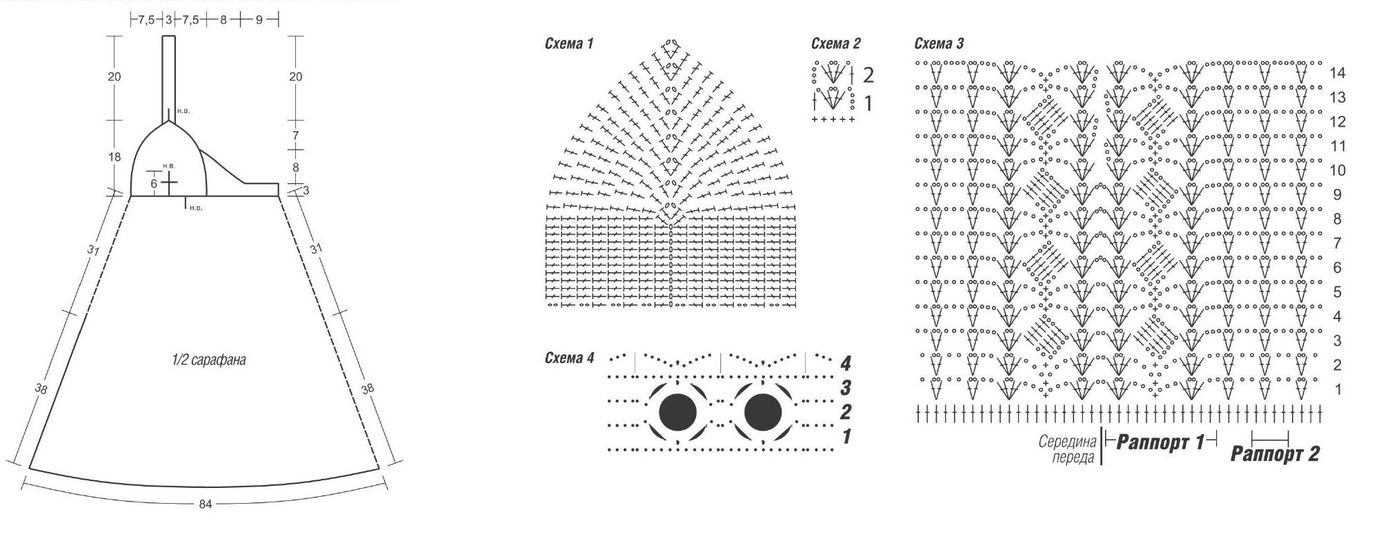 Сарафан схема вязания