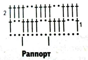 Схема узора квадратов