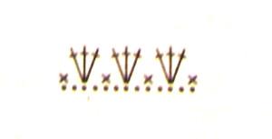 Схема каймы для кофточки