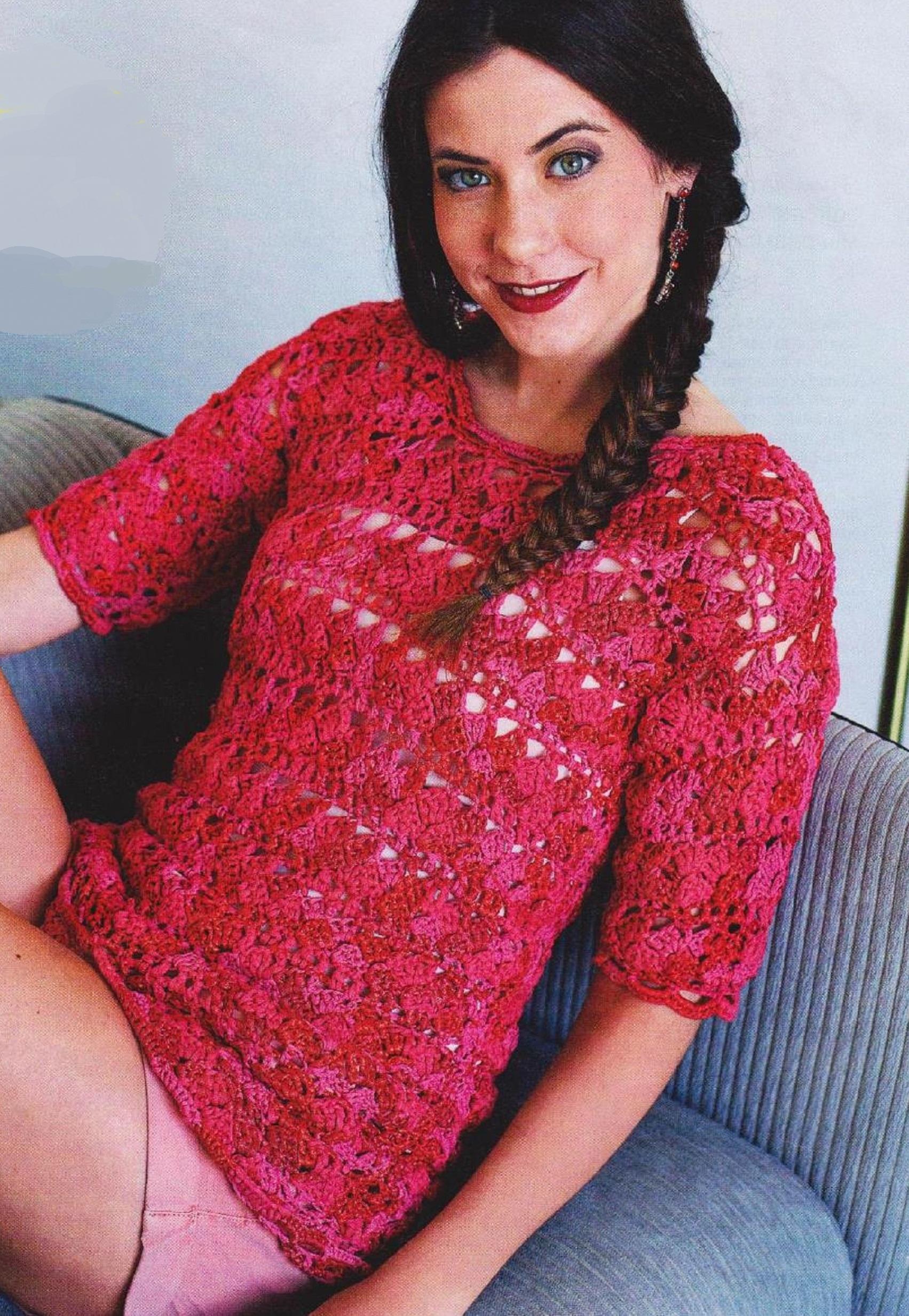 Вязание ленточной пряжей модели фото