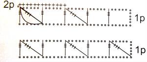 Схема последовательности выполнения объёмного узора