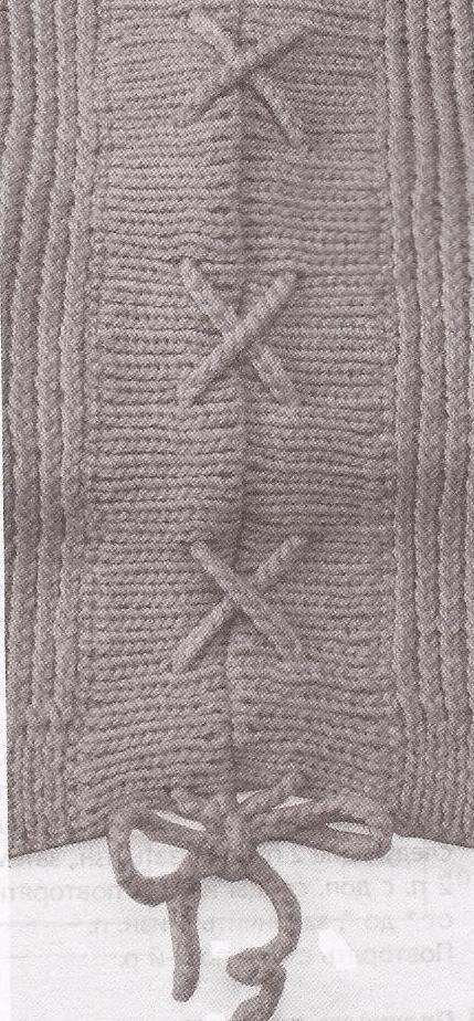 Пуловер со шнуровкой по бокам шнуровка