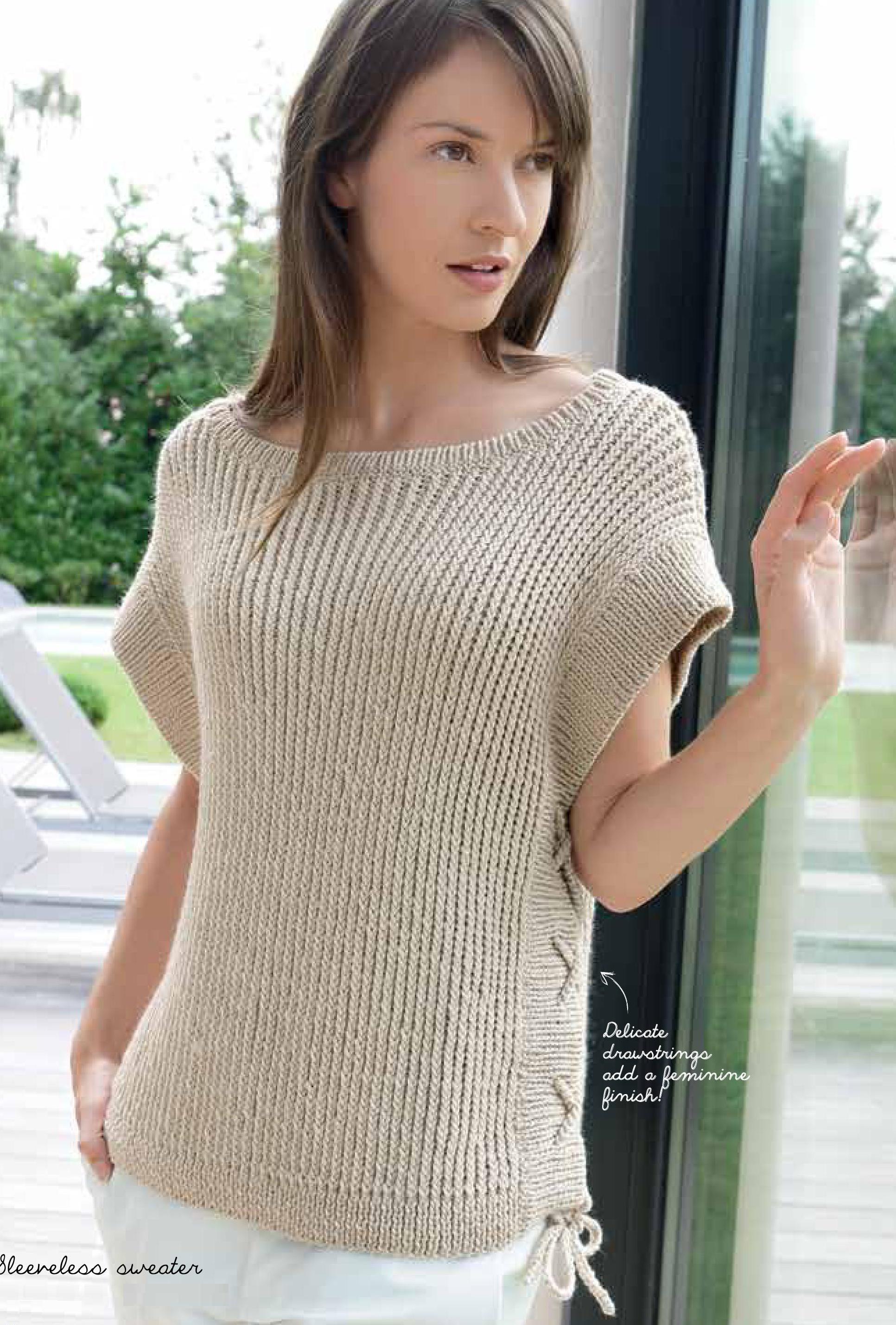 Пуловер со шнуровкой по бокам