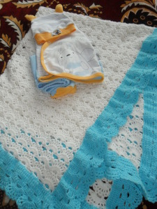 Вязание пледа для новорожденных 98