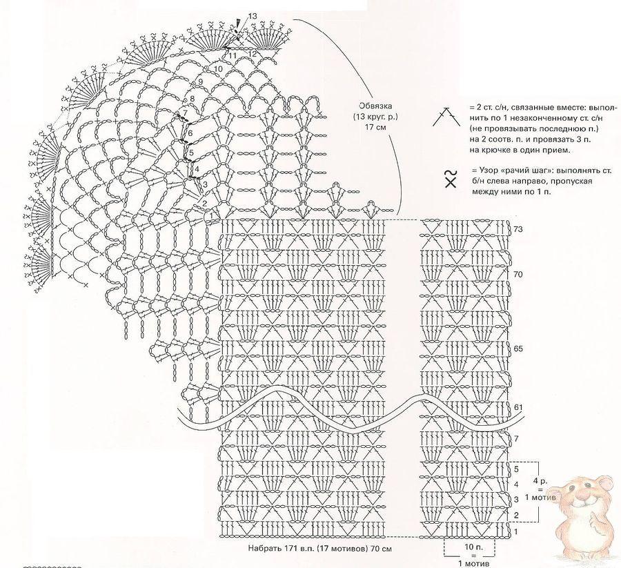 Схема для вязания крючком на выписку