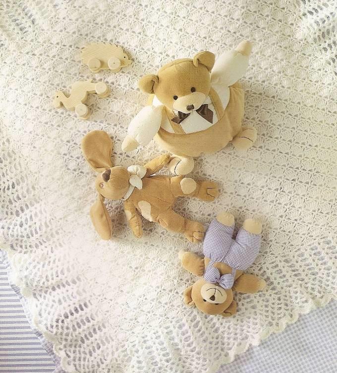 плед для новорожденного из пряжи puffy узоры