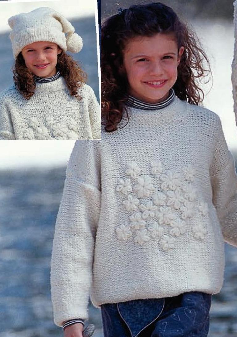 Снежно-белый комплект для девочки