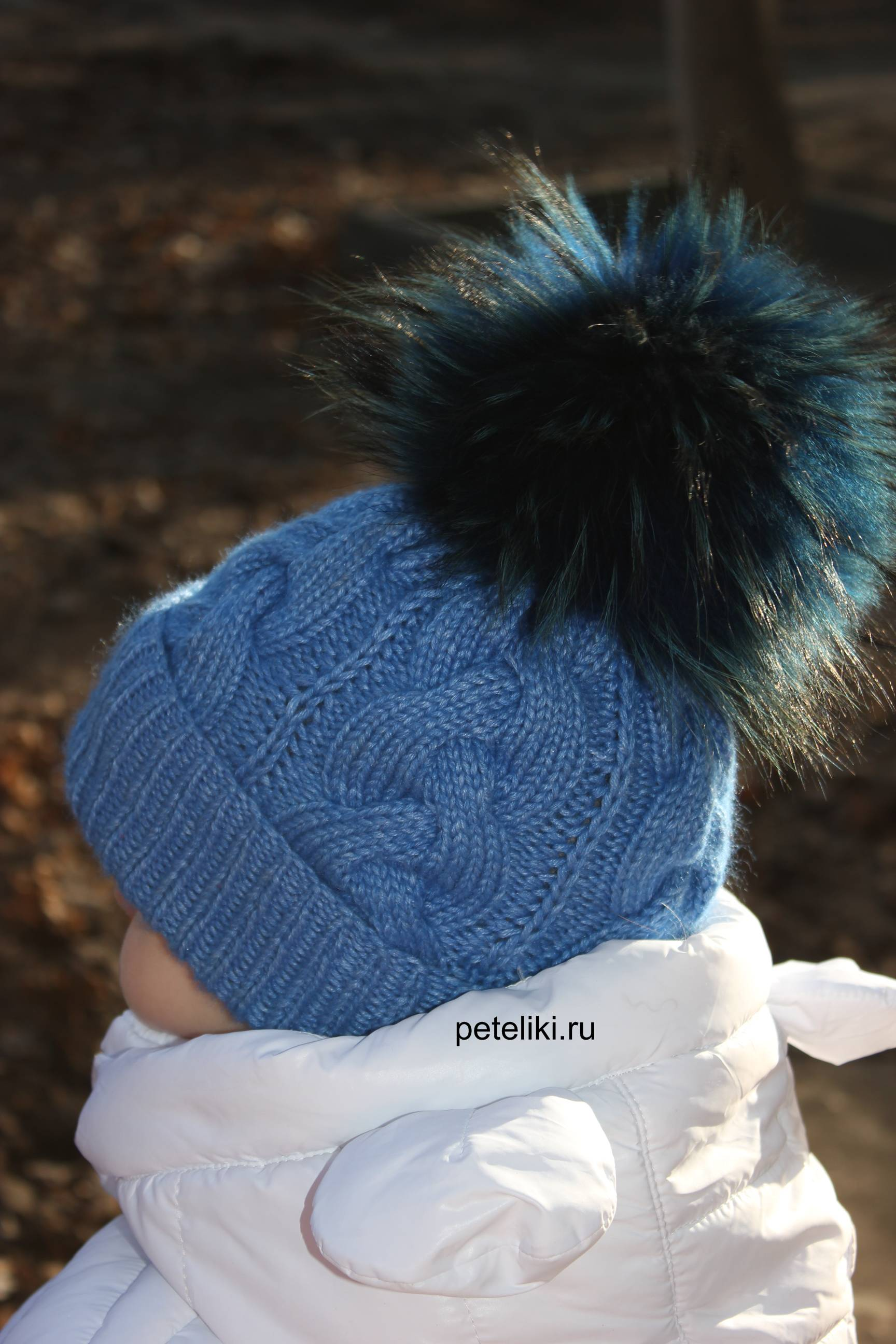 схема вязания мужские шапки с косами