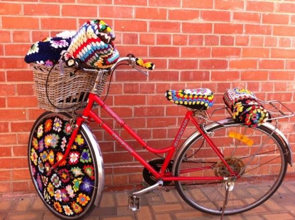 вязаный велосипед