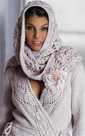 Жакет с запахом и ажурная шаль