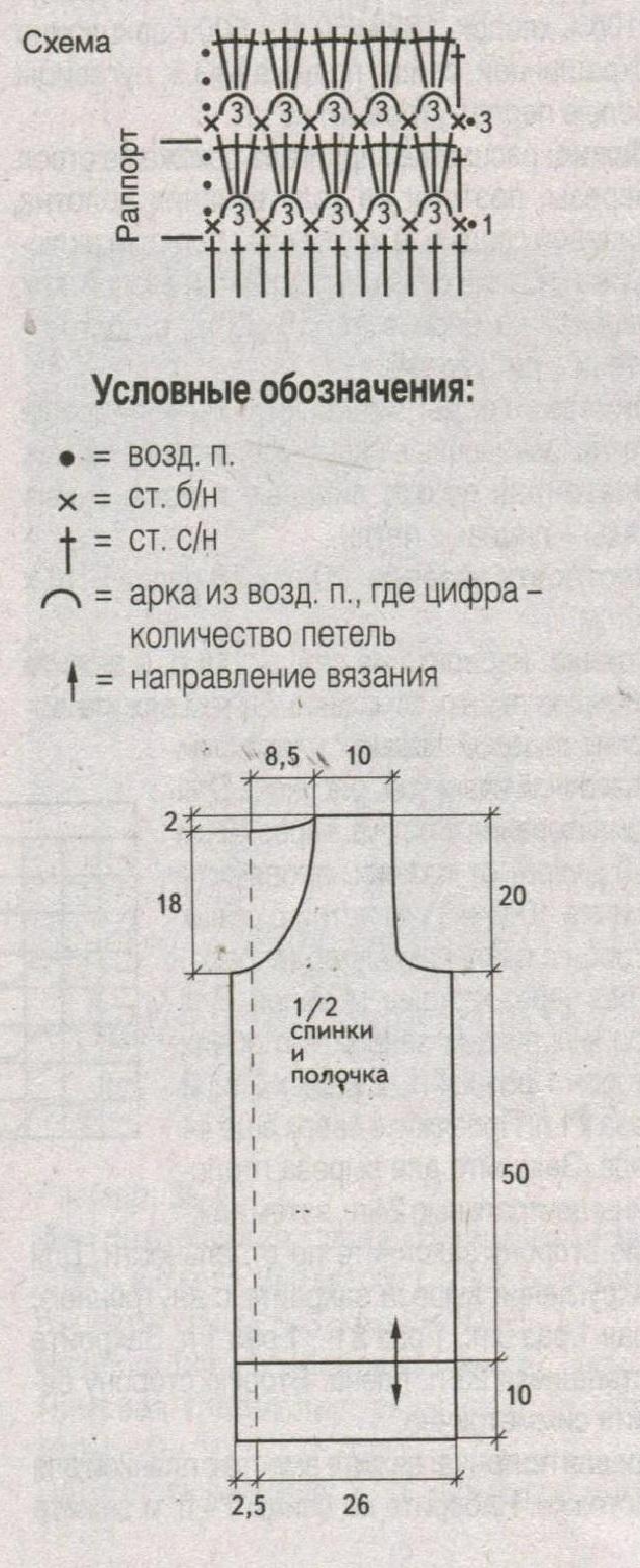 Длинный жилет спицами и крючком схема