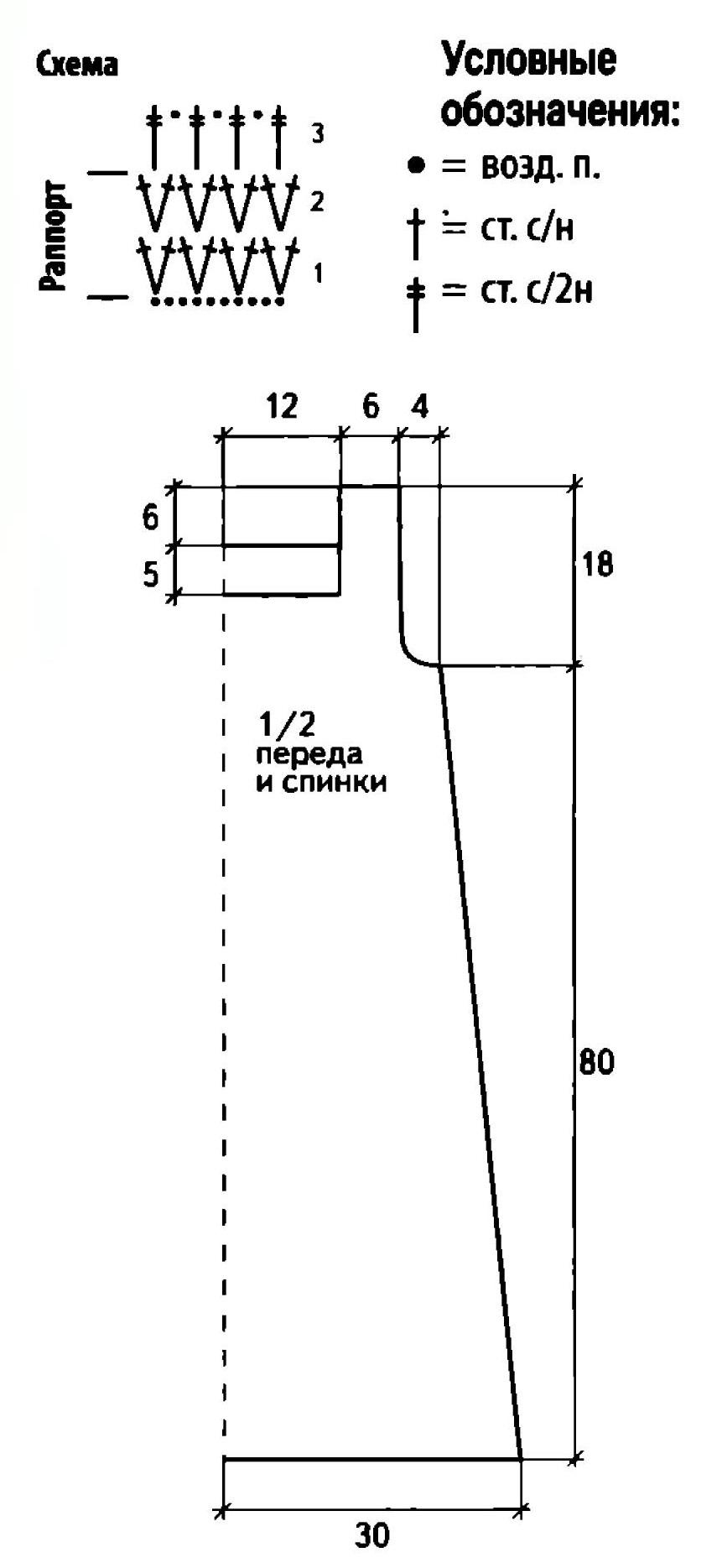 Белое платье вязаное крючком схема