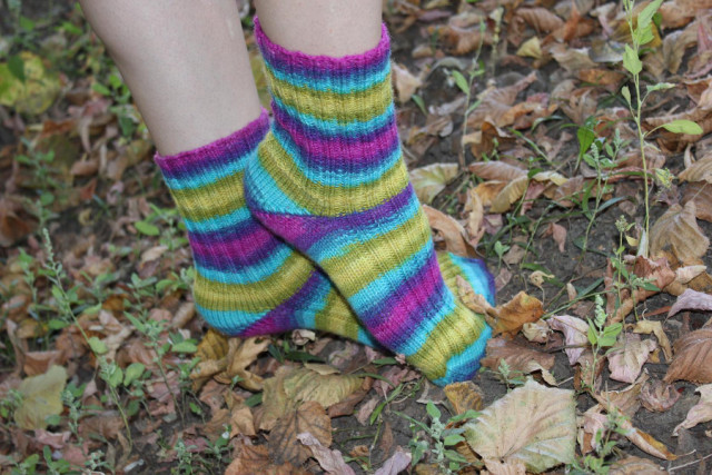 носки яркая осень
