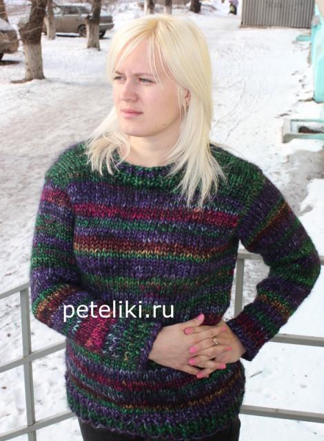 свитер из пряжи аврора