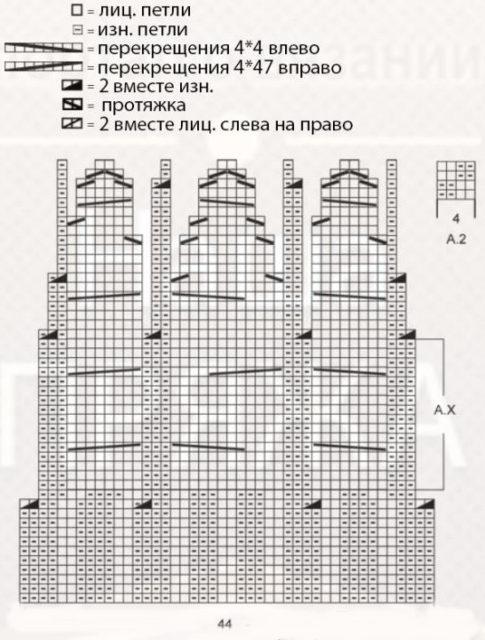 shema-vyazaniya-muzhskoy-shapki-spitsami-matvey
